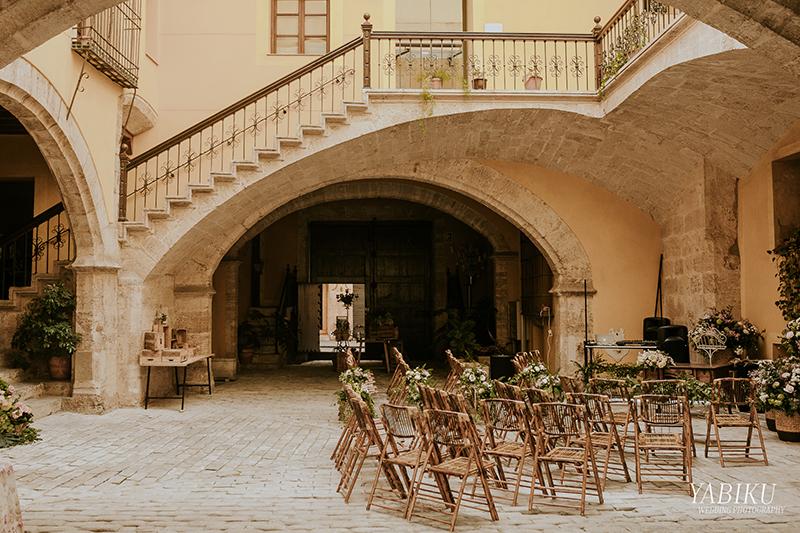 Boda en el Palacio Mercaders organizadas por Salsia Catering Valencia